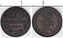 Изображение Монеты Бавария 1 крейцер 1869 Серебро