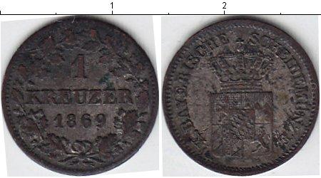 Картинка Монеты Бавария 1 крейцер Серебро 1869