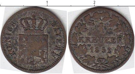 Картинка Монеты Бавария 1 крейцер Серебро 1852