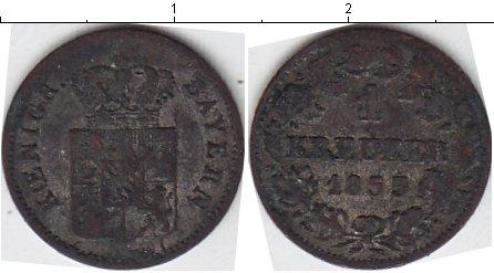 Картинка Монеты Бавария 1 крейцер Серебро 1853