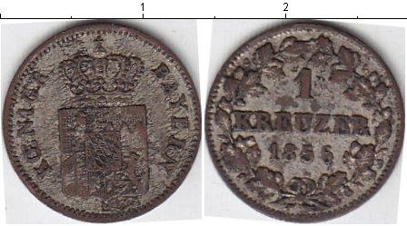 Картинка Монеты Бавария 1 крейцер Серебро 1856