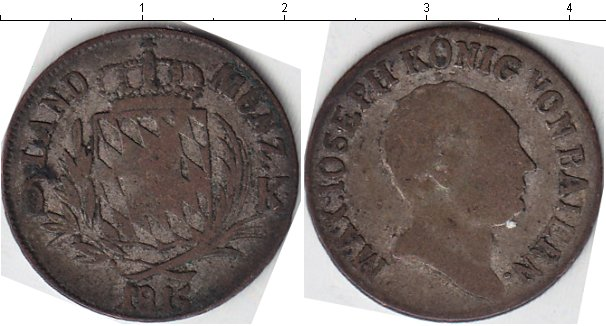 Картинка Монеты Бавария 6 крейцеров Серебро 1815
