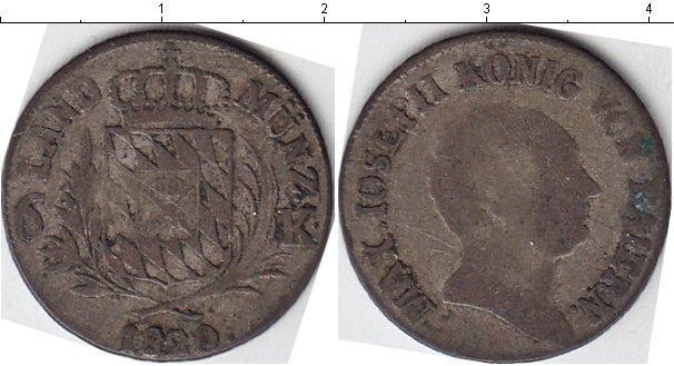 Картинка Монеты Бавария 6 крейцеров Серебро 1820