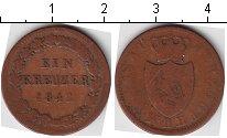 Изображение Монеты Германия Нассау 1 крейцер 1842 Медь