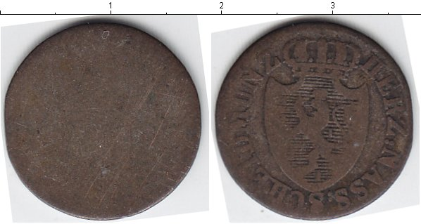 Картинка Монеты Нассау 3 крейцера Серебро 0