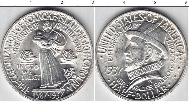 Картинка Монеты США 1/2 доллара Серебро 1937