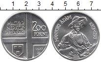 Изображение Мелочь Венгрия 200 форинтов 1977 Серебро UNC- Адам Маньоки<br>