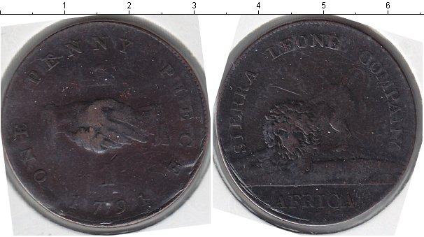 Картинка Монеты Сьерра-Леоне 1 пенни Медь 1791