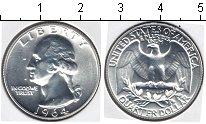 Изображение Мелочь США 1/4 доллара 1964 Серебро Prooflike