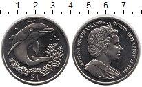 Изображение Мелочь Виргинские острова 1 доллар 2004 Медно-никель  Дельфин