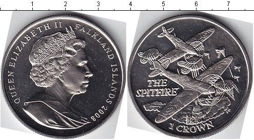Картинка Мелочь Фолклендские острова 1 крона Медно-никель 2008