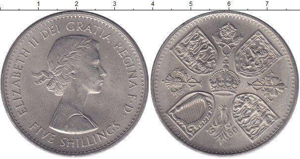 Картинка Мелочь Великобритания 5 шиллингов Медно-никель 1960