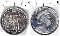 Изображение Монеты Виргинские острова 10 долларов 2006 Серебро  Юбилей королевы