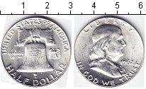 Изображение Мелочь США 1/2 доллара 1962 Серебро UNC-