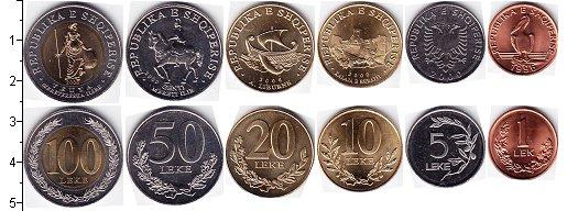 Изображение Наборы монет Албания Албания 2000-2009 0  UNC В наборе 6 монет ном