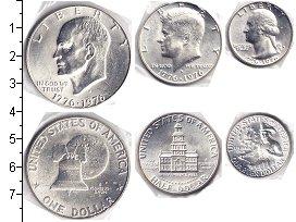 Изображение Наборы монет США США 1976 1976 Серебро  В наборе 3 серебряны