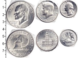 США США 1976 1976 Серебро