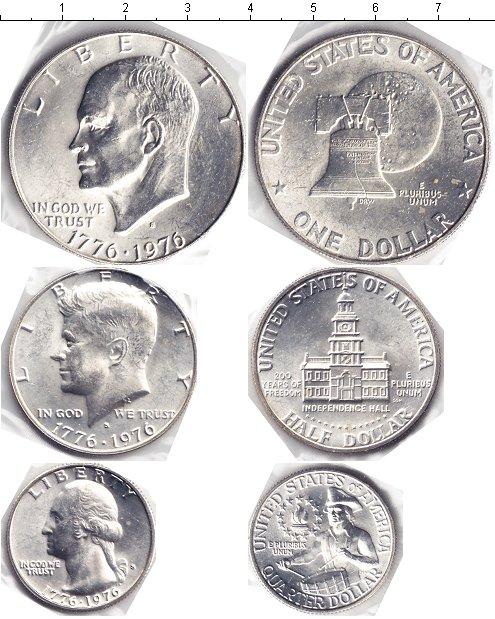 Картинка Наборы монет США США 1976 Серебро 1976