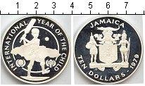 Изображение Монеты Ямайка 10 долларов 1979 Серебро Proof- Национальный год дет