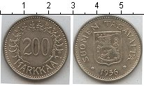 Изображение Монеты Финляндия 200 марок 1956 Медно-никель