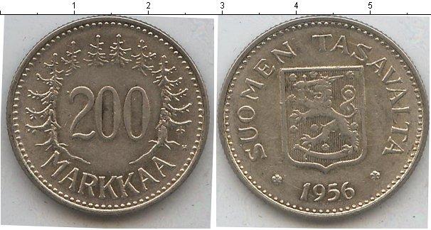 Картинка Монеты Финляндия 200 марок Медно-никель 1956
