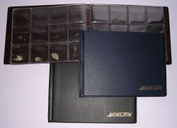 Изображение Аксессуары для монет Альбомы карманные Альбом на 72 монеты горизонтальный (иск, кожа!) 0