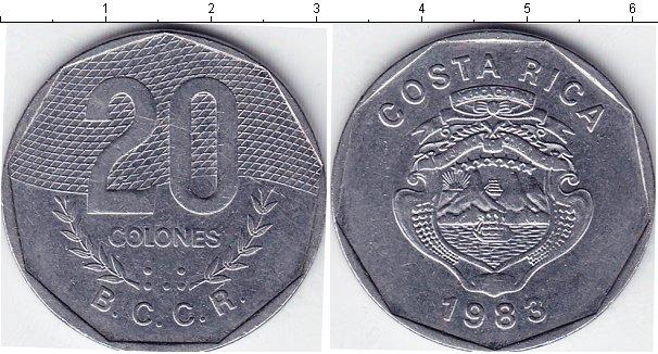 Картинка Мелочь Коста-Рика 20 колон Медно-никель 0
