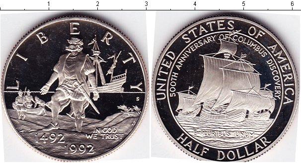 Картинка Мелочь США 1/2 доллара Медно-никель 1992