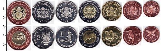 Изображение Наборы монет Андаманские острова Андаманские острова 2011 2011  UNC- В наборе 7 монет ном
