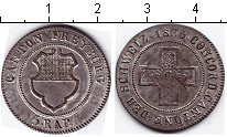 Изображение Монеты Швейцария 1/2 батзена 1830 Серебро  Кантон Фрейбург