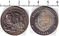 Изображение Мелочь Куба 1 песо 1989 Медно-никель UNC-