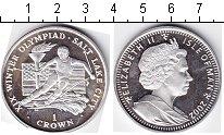 Изображение Монеты Остров Мэн 1 крона 2002 Серебро  Зимние Олимпийские и