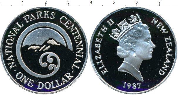Картинка Монеты Новая Зеландия 1 доллар Серебро 1987