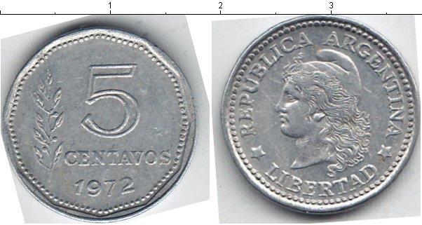 Картинка Мелочь Аргентина 5 сентаво Алюминий 1973