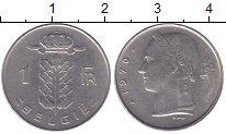 Изображение Мелочь Бельгия 1 франк 1977 Медно-никель XF