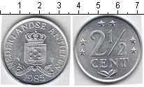 Изображение Мелочь Антильские острова 2 1/2 цента 1985 Алюминий XF