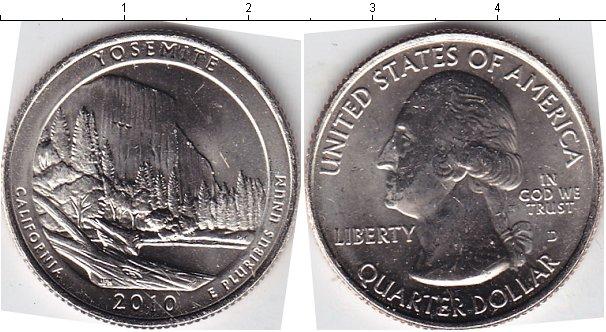 Картинка Мелочь США 1/4 доллара Медно-никель 2010
