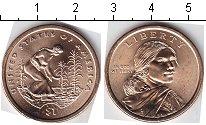 Изображение Мелочь США 1 доллар 2009 Латунь AUNC D. Росток