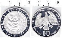 Изображение Монеты ФРГ 10 марок 2000 Серебро Proof Иоганн Себастьян Бах