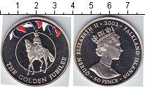 Изображение Мелочь Фолклендские острова 50 пенсов 2002 Медно-никель Proof- Золотой юбилей
