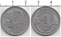 Изображение Мелочь Франция 1 франк 1946 Алюминий VF Голова в лавровом ве