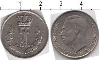 Изображение Мелочь Люксембург 5 франков 1979 Медно-никель XF Великий герцог Жан