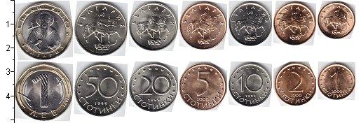 Изображение Наборы монет Болгария Болгария 1999-2002 0  AUNC В наборе 7 монет ном