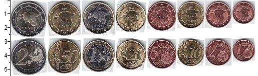Изображение Наборы монет Эстония Эстония 2011 2011  UNC- В наборе 8 монет ном