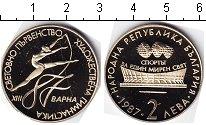 Изображение Мелочь Болгария 2 лева 1987 Медно-никель Proof Зимние Олимпийские и