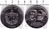 Монета Куба 1 песо Медно-никель 2010 UNC