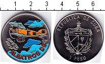 Изображение Мелочь Куба 1 песо 1994 Медно-никель UNC Альбатрос. Авиация
