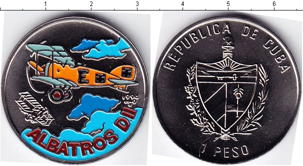 Картинка Мелочь Куба 1 песо Медно-никель 1994