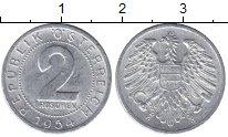 Изображение Мелочь Австрия 2 гроша 1954 Алюминий VF