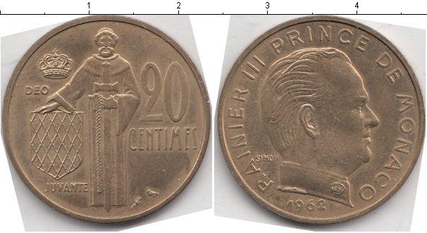 Картинка Мелочь Монако 20 сентим  1962